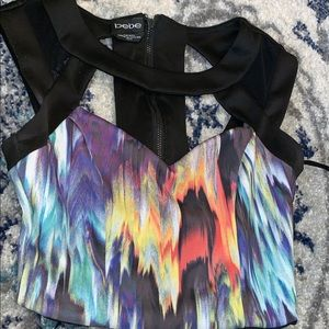 Colorful crop top